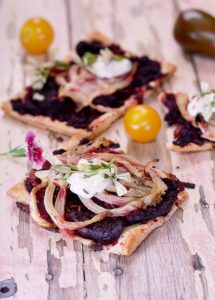 Roast Fennel and Beetroot Squares